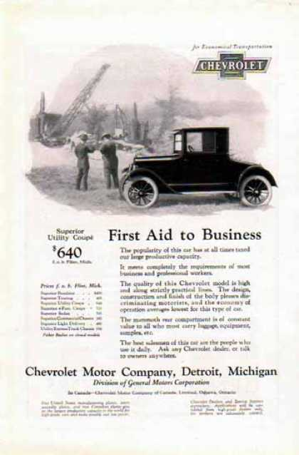 Chevrolet Car – First Aid to Business (1924)