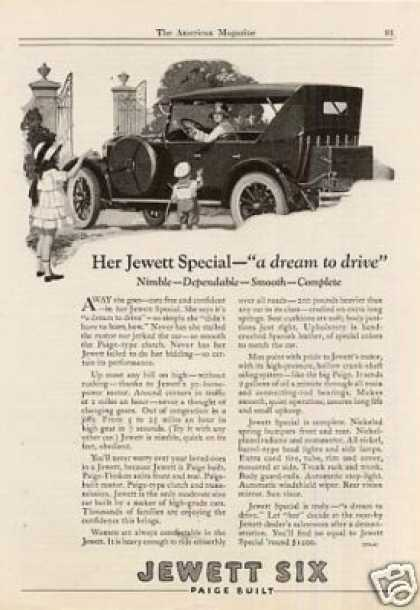 "Jewett Six Car Ad ""Her Jewett Special... (1923)"