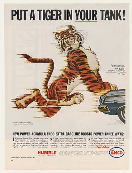 Put A Tiger In Your Tank Push Humble Enco Gas (1964)