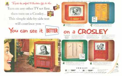 Crosley Tv Television 5 Models (1952)