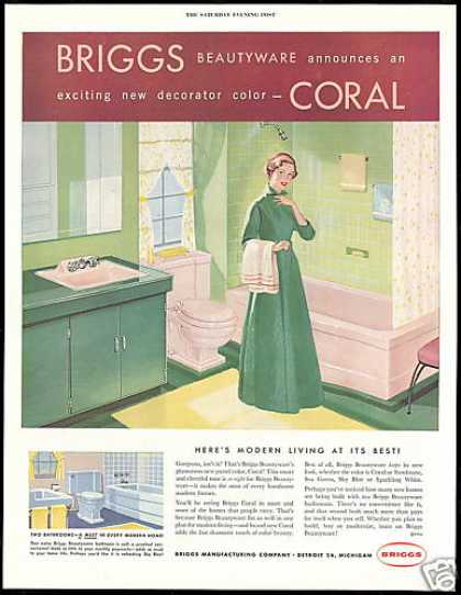 Briggs Manufacturing Bathroom Fixtures (1954)