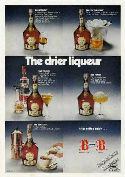 "B&b ""The Drier Liqueur"" Recipes (1973)"