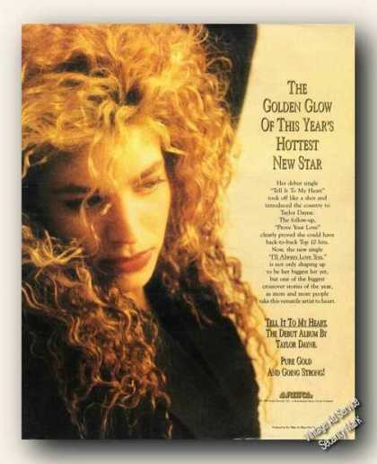Taylor Duane Photo Tell It To My Heart Promo (1988)