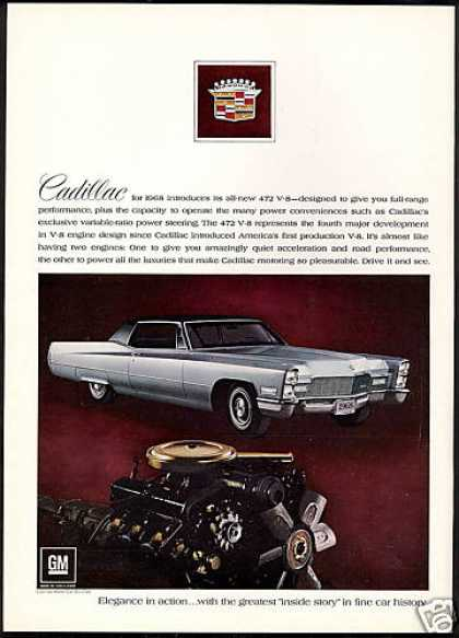 Cadillac 2 Dr Photo New 472 V-8 Engine (1968)
