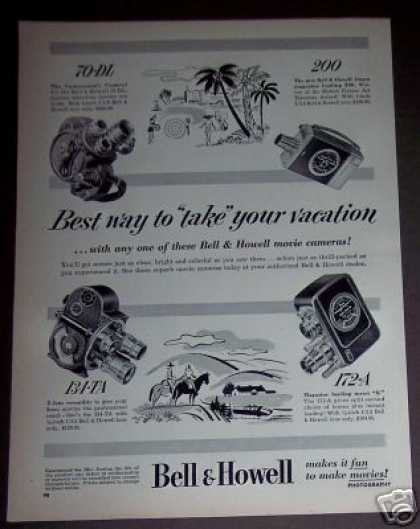 Bell & Howell Movie Cameras 4 Models (1952)