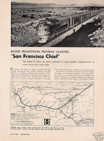 """San Francisco Chief"" Article/atsf (1954)"