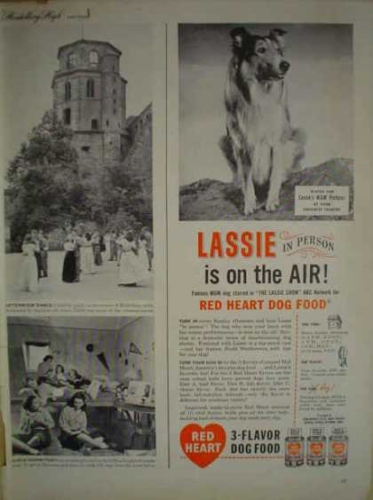 Red Heart 3 Flavor Dog Food Lassie Theme MGM Pictures (1947)