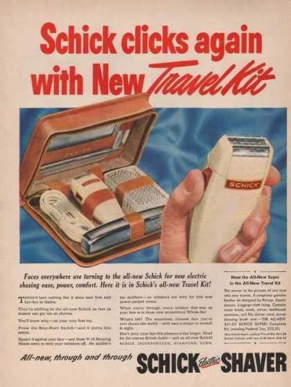 Schick Electric Shaver Travel Kit (1949)