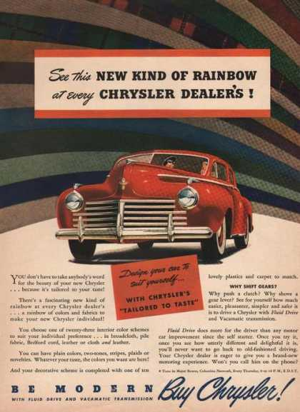 New Kind of Rainbow Chrysler Red Car Print (1941)