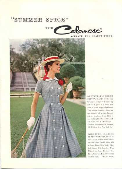Celanese Acetate Summer Fashion Dress (1956)