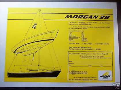 Morgan 26 Sailboat Boat (1969)