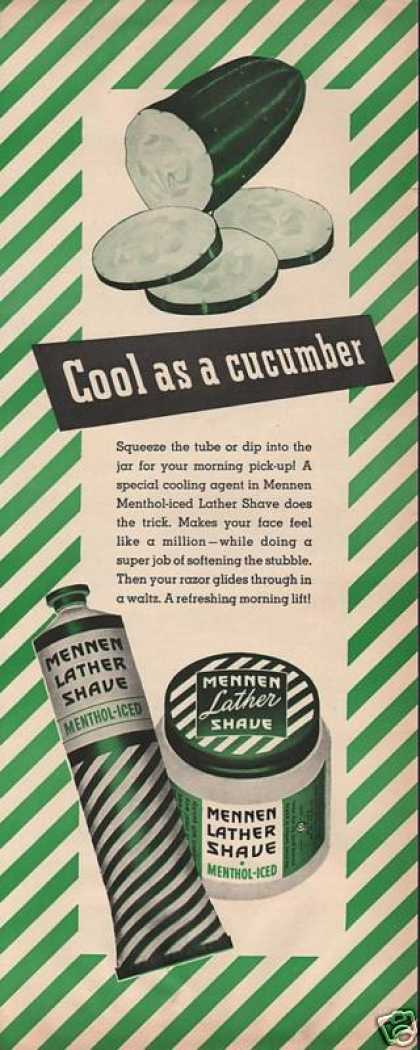 Mennen Lather Shave Cream for Men (1943)