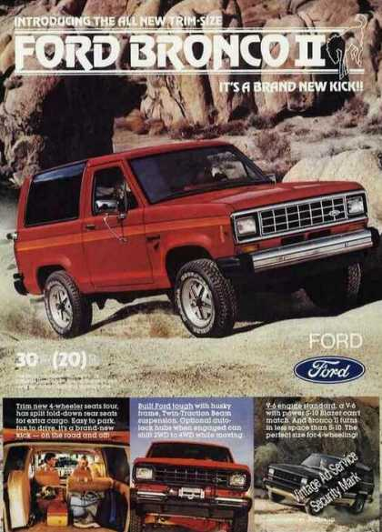 All New Ford Bronco Ii Photos Collectible (1983)