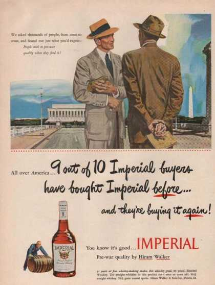 Hiram Walker Imperial Whiskey (1949)