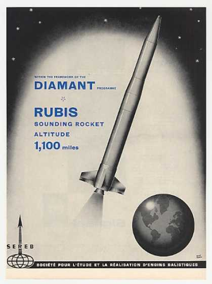Sereb Rubis Sounding Rocket Photo (1964)