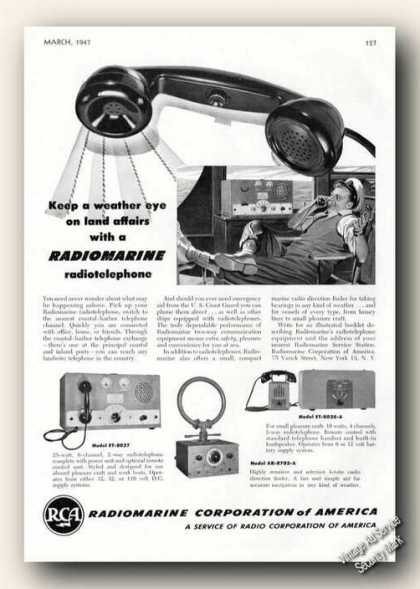 Rca Radiomarine Radiotelephone Photos (1947)