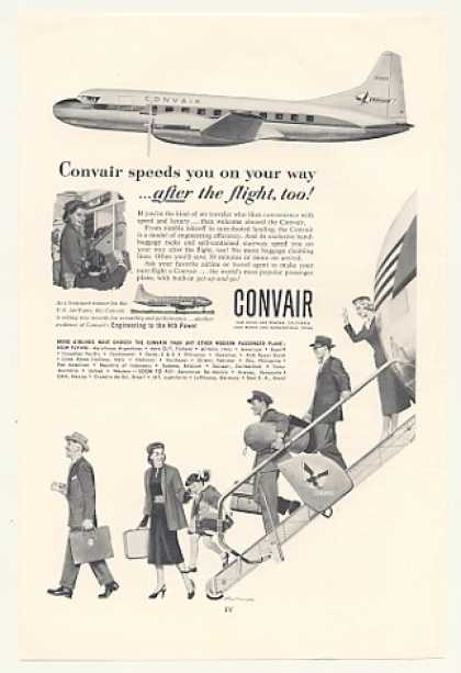Convair Airplane Aircraft Passengers (1953)