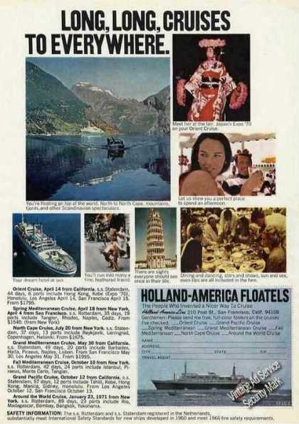 Holland-america Floatels Cruises To Everywhere (1969)