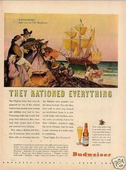 "Budweiser Beer Ad ""They Rationed Everything... (1944)"