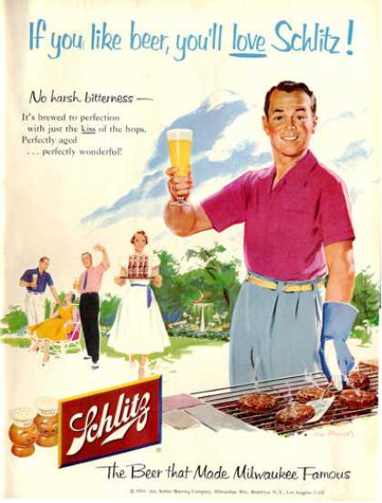 Schlitz Beer Bar B Que Bbq (1954)