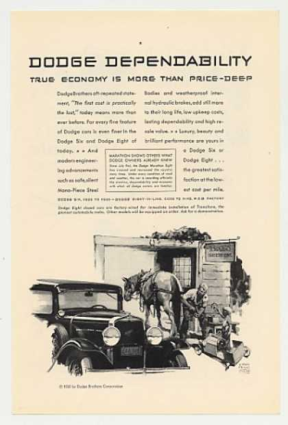 Dodge Depend Horse Shoeing William Prince art (1930)