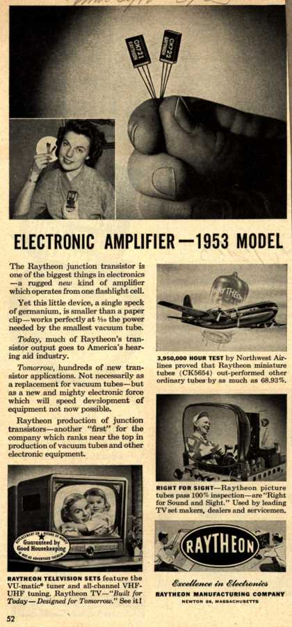 Raytheon Manufacturing Company's Amplifier – Electronic Amplifier – 1953 Model (1953)