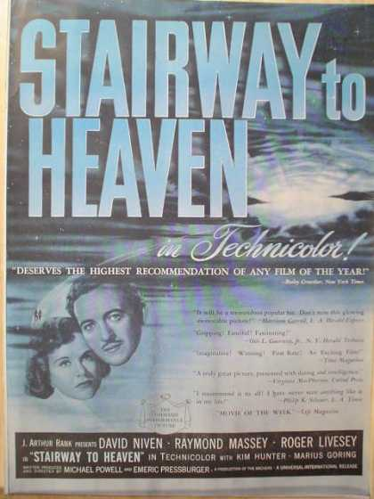 Movie Stairway to Heaven David Niven Ray Massey (1947)