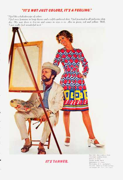 Tanner Dress Colorful Fashion (1972)