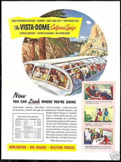 Vista Dome California Zephyr Train Railroad (1949)