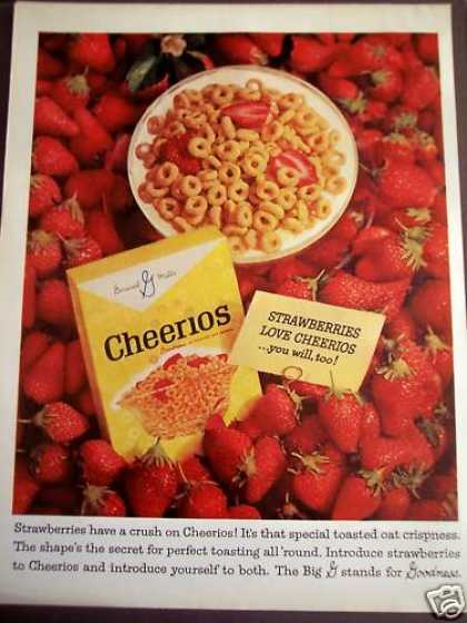 General Mills Cheerios Cereal W/ Strawberries (1963)