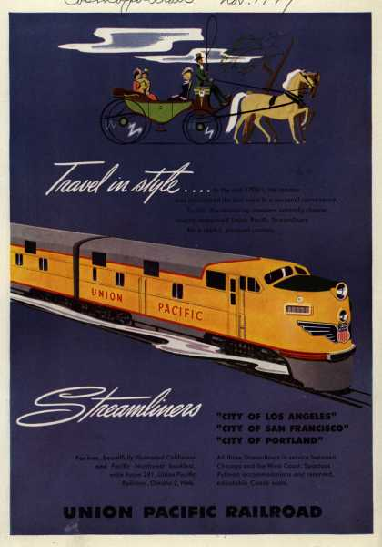 Union Pacific Railroad's Streamliners – Travel in style...Streamliners (1949)