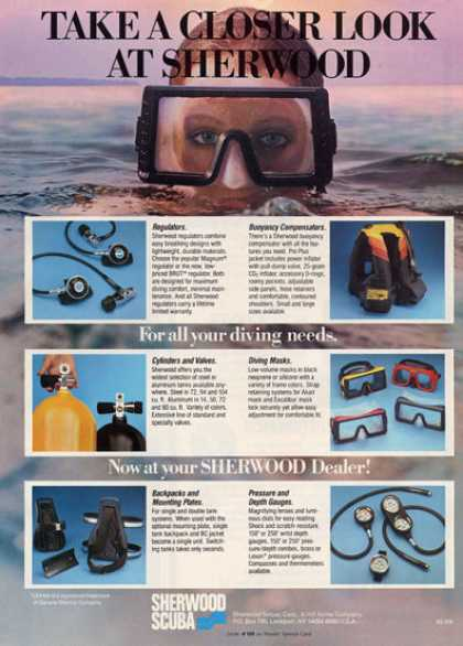 Sherwood Scuba Diving Tank Mask Regulator Vest (1984)