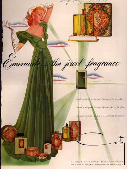 Coty's Emeraude accessories – Emeraude... the jewel fragrance (1941)