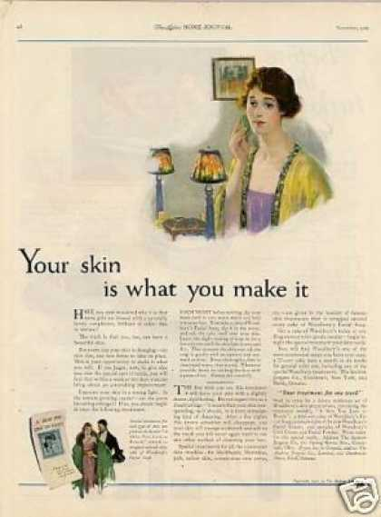 "Woodbury's Soap Ad ""Your Skin Is What... (1921)"