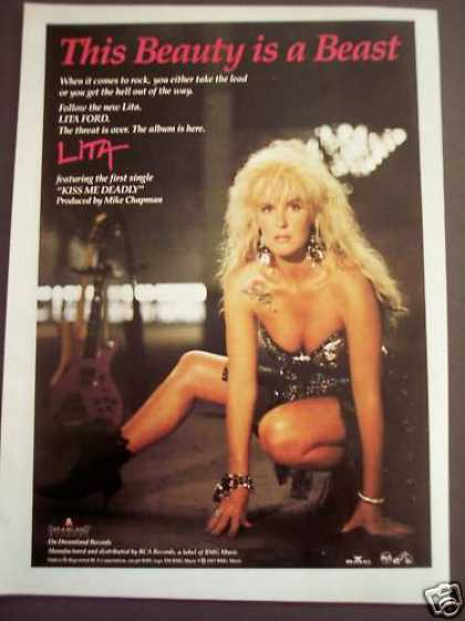 Lita Ford Lita Album Music Promo (1988)