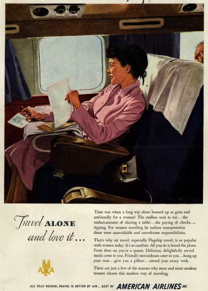 American Airlines – Travel Alone and love it... (1949)
