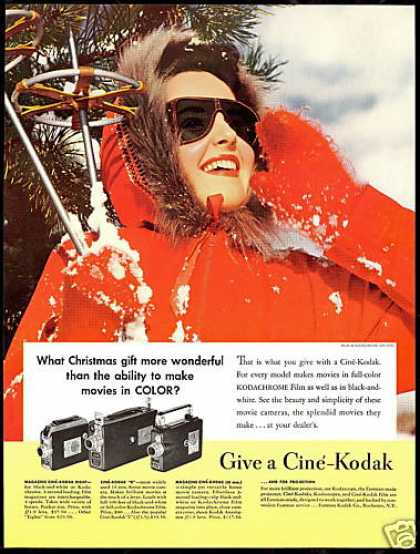 Pretty Snow Skier Cine Kodak Movie Camera (1940)