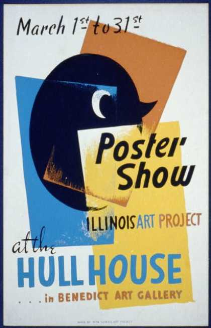 Poster show – at the Hull House ... in Benedict Art Gallery. (1936)