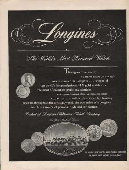 Longines Worlds Honored Watch (1946)