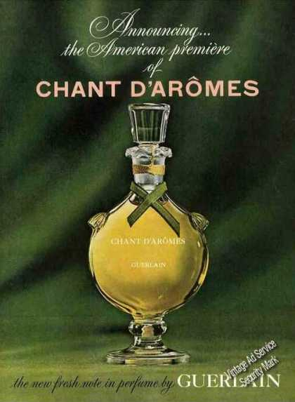 Introductory Ad Chant D'aromes By Guerlain Rare (1963)