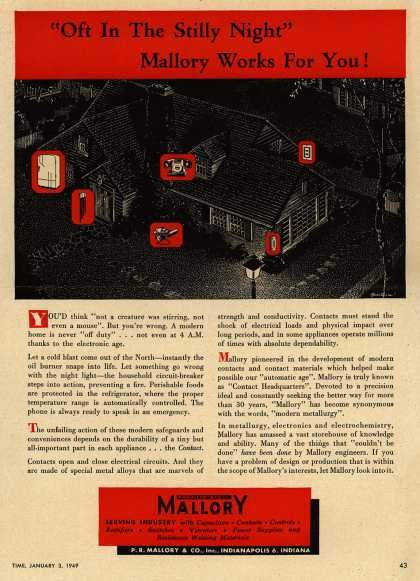 "P.R. Mallory and Company, Incorporated's Electronics – ""Oft In The Stilly Night"" Mallory Works For You (1949)"