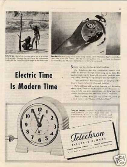 Telechron Electric Clocks (1944)