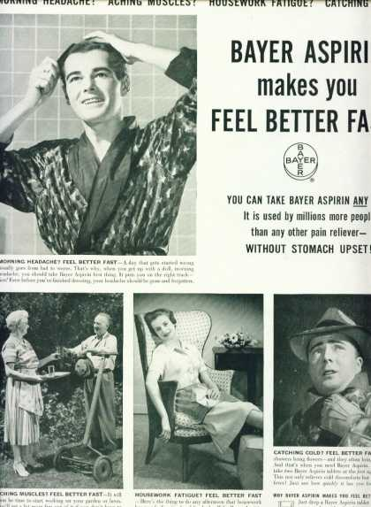Bayer Aspirin Feel Better Fast (1956)
