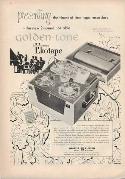Ekotape Golden Tone Reel To Reel Tape (1953)