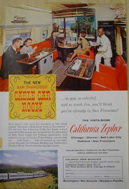 Vista Dome California Zephyr Railroad car (1961)