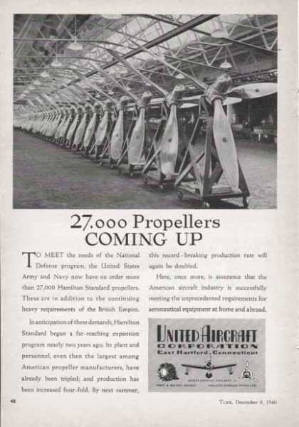 United Aircraft Corp. – 27,000 Propellers Coming Up (1940)
