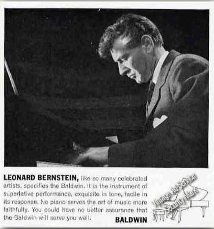 Leonard Bernstein Playing Baldwin Piano Rare (1963)