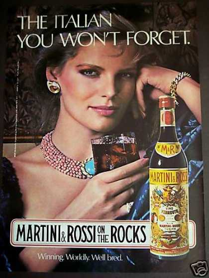 Martini & Rossi Italian Vermouth Woman Photo (1980)
