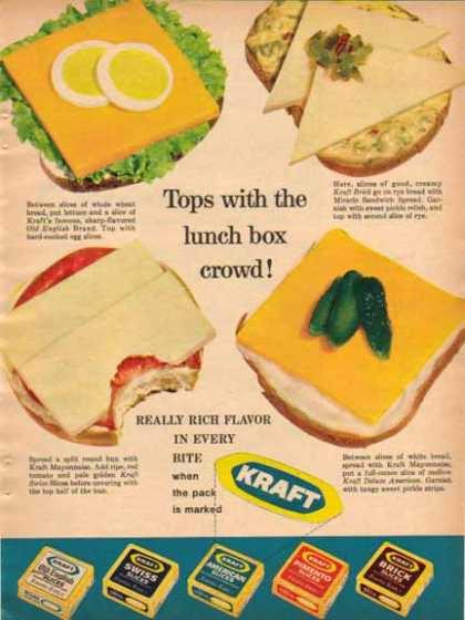 Kraft Cheeses – Five different Cheeses (1963)