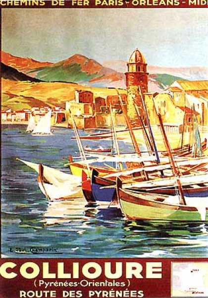 Collioure by E. Paul Champseix (1925)